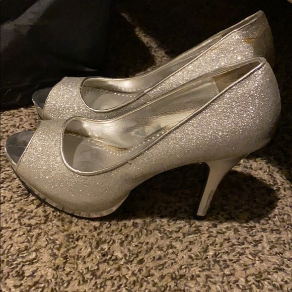 Rampage Shoes - Silver Sparkley Heels, size 9.5